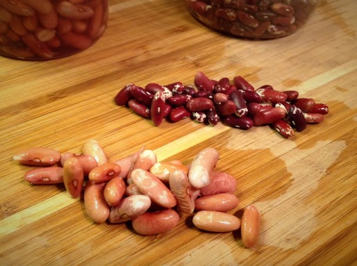 Beans will double to triple in size after soaking. They lose some of their color but still have the same pattern.