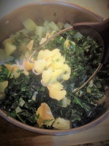 The beautiful dark green of the kale creates a festive Irish color for this easy, traditional comfort food recipe
