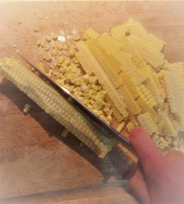 No fresh corn? You can easily swap frozen corn for fresh. One ear of corn usually provides about ¾ cup kernels, so you'll need about 1 ½ cups frozen kernels for this recipe.