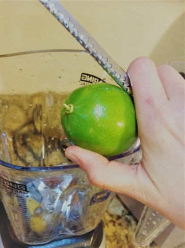 Microplane to Zest: The zest of the lime has most of the flavor. Use a Microplane zester to remove this without taking off any of the white pith