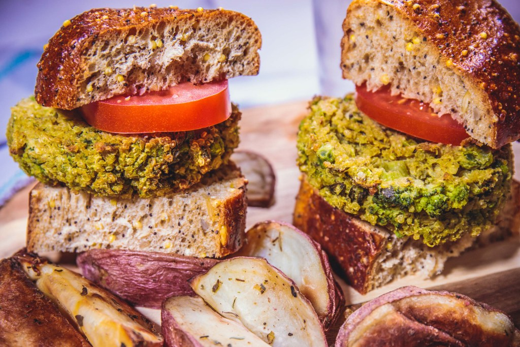 Super Green Gluten-Free Quinoa Veggie Burger Sliders - Healthy, Plant-Based, Gluten-Free, Oil-Free, Vegan Recipe from Plants-Rule