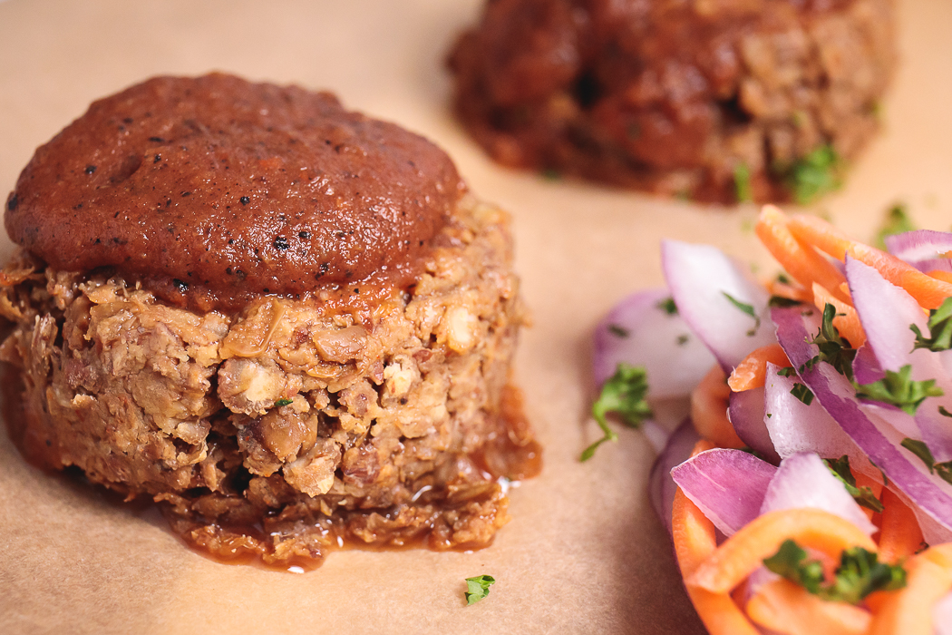 Mini BBQ Lentil Loaves - Healthy, Easy, Plant-Based, Gluten-Free, Oil-Free Summer Vegan Recipe