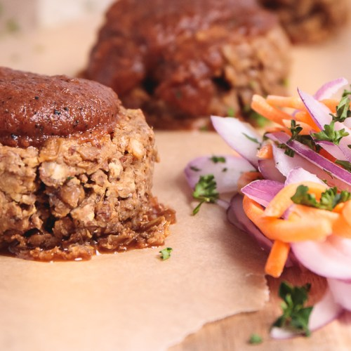 Mini BBQ Lentil Loaves - Healthy, Easy, Plant-Based, Gluten-Free, Oil-Free Summer Vegan Recipe (6)