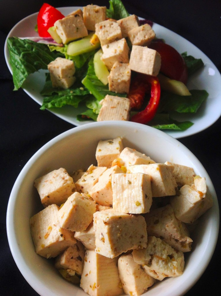 Vegan Tofu Feta Cheese - Healthy, Plant-based, Dairy-Free, Oil-Free Recipe from Plants-Rule