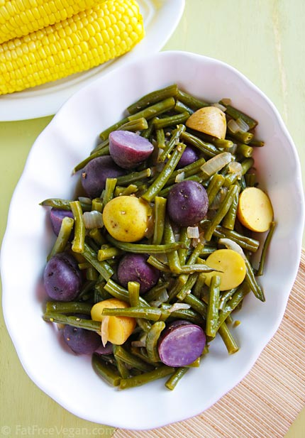 Homestyle Green Beans and Potatoes from FatFree Vegan