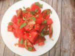 Easy Watermelon Heirloom Tomato Salad - Healthy, Plant-Based, Vegan, Oil-Free Summer Recipe from Plants-Rule