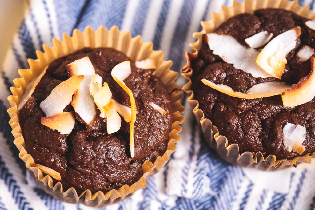 Chocolate Secret-Spinach Spelt Muffins - Healthy, Plant-Based Oil-Free Dessert Treat Recipe from Plants-Rule