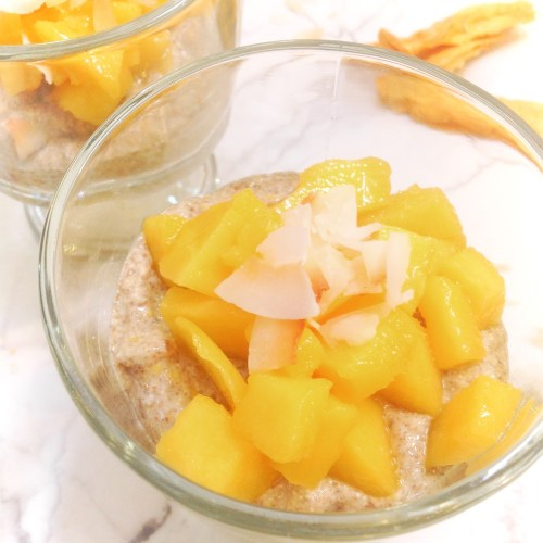 Coconut Mango Chia Pudding Parfait - Healthy, Plant-Based, Gluten-Free, No Refined Sugar or Syrup Vegan Snack Recipe from Plants-Rule