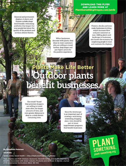 Outdoor Plants Benefit Businesses