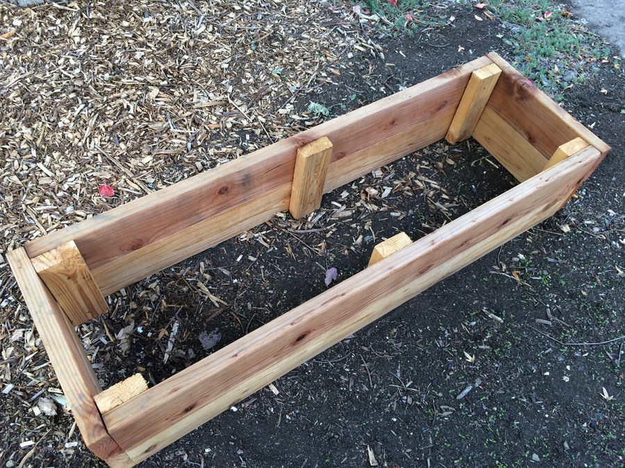 Raised beds are most often made of wood. Be sure to avoid lumber treated with chemicals.