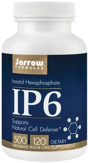 IP6 (INOSITOL) 500MG 120CPS contribuie ladetoxifierea organismului  Beneficii: contine Inozitol hexafosfat din sursa naturala (extract din tarate de orez), 500mg/capsulacontine IP6 de cea mai inalta puritate si biodisponibilitate, produs de Tsuno Foods & Rice Company de Wakayama, Japonia – liderul mondial in domeniul cercetarii si producerii extractelor din orezajunge pana la 120 de zile de administrare Contribuie la:  stimularea diviziunii celulare normale: activeaza celulele NK cu rol cheie in sistemul imunitarinduce apoptoza celulelor anormale: activeaza genele proapoptotice (de ex.: Bax, p53)chelateaza fierul in exces din tesuturiprotejeaza ADN-ul de efectul radiatiilor (de ex.: ultraviolete)detoxifierea organismului:elimina metalele grele din organism: chelateaza mercurul, plumbul, cadmiul, fierul, cuprul, uraniul; IP6 nu elimina potasiul, sodiul, magneziul necesare functiei cardiace normale, calciul din oase si fierul din globulele rosii; chelatarea fierului in exces din tesuturi asigura protejarea ficatului in infectii virale, reducerea lipogenezei hepatice, troficitatea muschiului cardiacreduce nivelul unor toxine exogene (nitrozamine, benzeni etc.) si endogene (de ex.: lipofuscina – reziduu metabolic) din tesuturireducerea severitatii infectiilor virale, bacteriene, micotice, parazitarereducerea speciilor reactive de oxigen (este un antioxidant hidro si liposolubil)reducerea tulburarilor emotionale (senzatie de sufocare, palpitatii, teama) si a unor manifestari neurodegenerative (tremor, rigiditate, memorie scazuta):reduce acumularea de fier si efectul oxidativ al acestuia asupra tesuturilor cerebrale (de ex.: placile de amiloid)reduce afectarea neuronilor provocata de concentratia crescuta a glucozei din sangeprotectia cardiovasculara: reduce agregarea plachetara, calcifierea peretilor vasculari si peroxidarea lipidelorimbunatatirea fluiditatii membranei celularereducerea manifestarilor dezechilibrelor hormonale feminine (tulburari ale ciclului menstrual, 