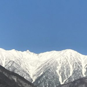 きれいですね。宝剣岳
