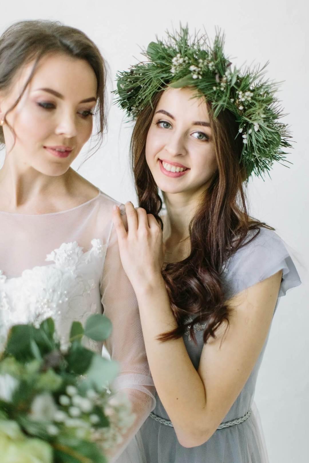 Delicate Dove Hues Bridesmaid Makeup Idea