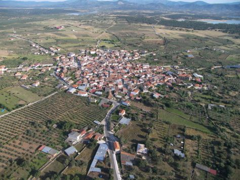Panóramica aérea de Guijo de Granadilla (Foto: Ayuntamiento de Guijo)