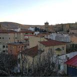 La Catedral, el Palacio de Mirabel y el Parador desde el Berrocal Plasencia