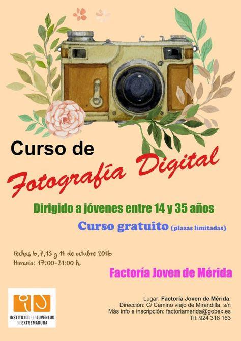 curso de fotografía digital Mérida