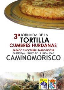 """Cartel de la """"Jornada de la Tortilla"""" (Foto: Organización)"""