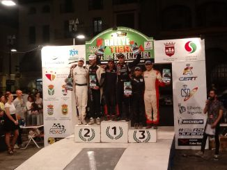 Podio General - Cohete Suárez se lleva la victoria en el VIII Rallye de Tierra Norte de Extremadura
