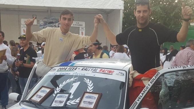 Los placentinos Sebastián Pescador y Cristóbal Pescador se hacen con la Copa Fexa RallyAl Racing
