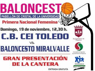 Baloncesto CP Miralvalle Plasencia vs CB CEI Toledo