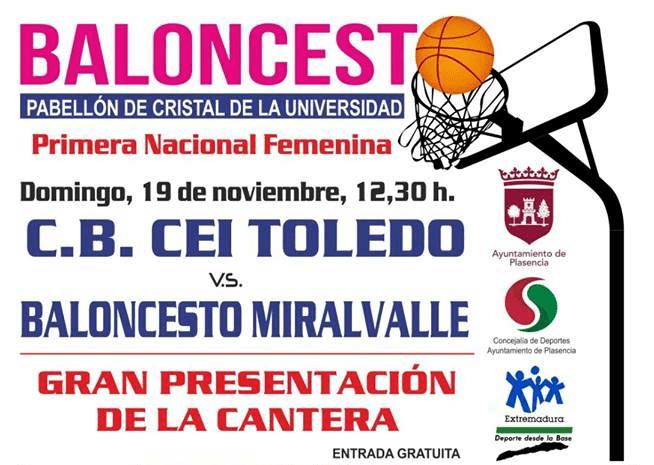 Baloncesto Miralvalle vs CB CEI Toledo
