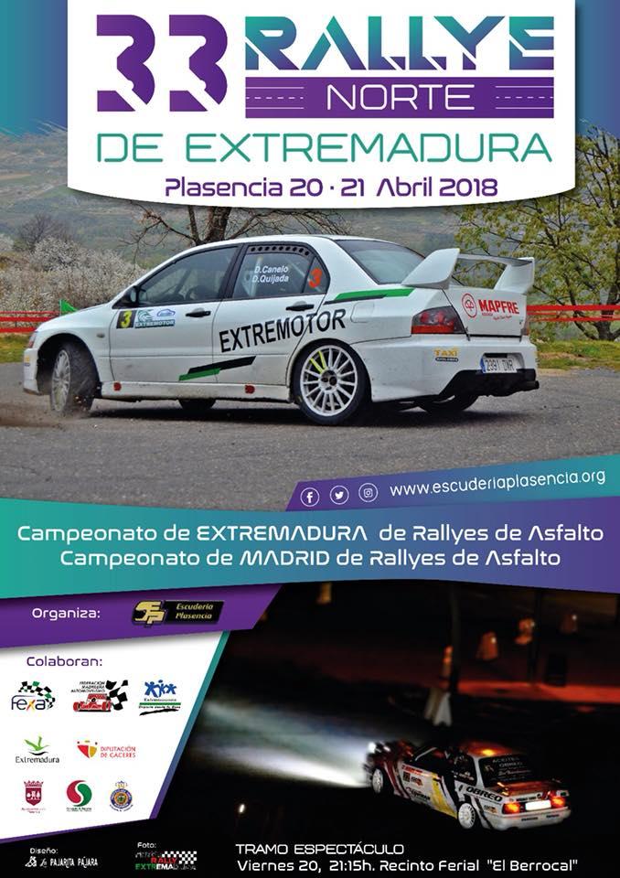 Escudería Plasencia organiza también el XXXIII Rallye Norte de Extremadura