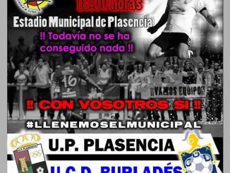 La UP Plasencia recibe sin confianzas a la UCD Burladés para pasar la eliminatoria