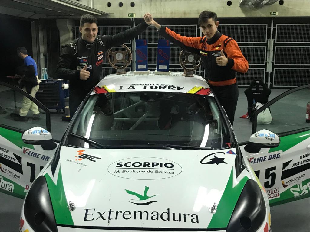 La dupla Miguel Grande y Salvador Tineo segundos en los 500 kilómetros de Alcañiz – III Memorial José Antonio Vicente