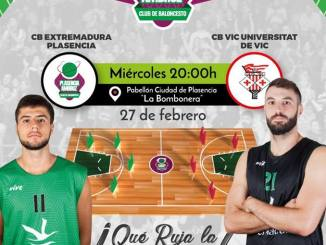 Rueda de prensa previa del partido CB Extremadura Plasencia ante el CB VIC Universitat de VIC