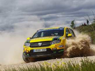 Segunda plaza para Quijada y Cuni en Navarra que se mantienen en la lucha en la lucha de la Dacia Sandero