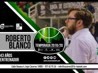Roberto Blanco seguirá liderando al Cáceres de LEB Oro
