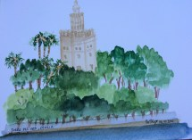 Otra pausa para pintar a las orillas del Guadalquivir