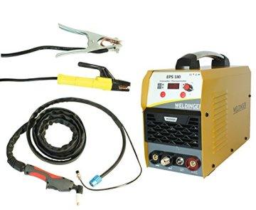 WELDINGER EPS180 Elektroden-Schweißinverter + Plasmaschneider Kombigerät 180A/45 A - 1