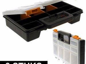 3x Opberg/sorteer boxen met 8 vakken 29 cm - Opbergboxen - Opbergen/opruimen - Sorteerdozen