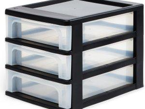 IRIS A4 Ladesysteem - 3x 4L - Zwart/Transparant