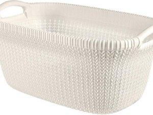 Knit Wasmand 40l Oasis White 60x39xh27cm (set van 4)