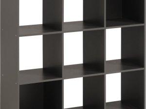 Opbergbox Kubikub met 9 vakken - grijs