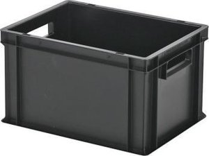 Opbergbox / Stapelkrat - Polypropyleen - 21,5 liter - Zwart