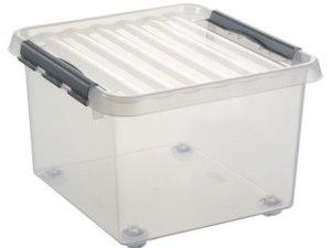 Sunware Q-line opbergbox 26ltr op wielen