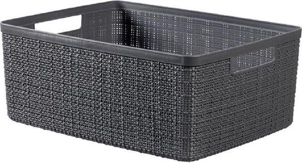 Curver Jute Opbergbox Deep Shadow Medium 12L 36,2x28,2xh14,5cm - Kunststof (set van 3)