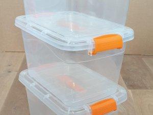 Opbergbox met deksel - Transparant - 10L - 3 Stuks