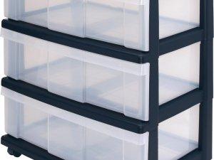IRIS Top Ladesysteem - 3 x 34L - Kunststof - Transparant/Zwart