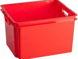 Keter Crownest - Opbergbox - 30 Liter - Rood - 42.6x36.1x26cm - (set van 6)