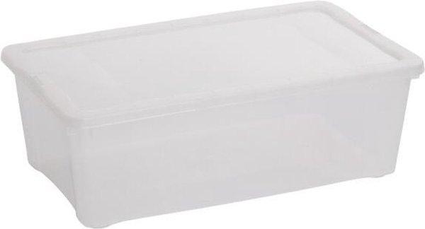 Transparante opbergbox - 25 L - set van 2 stuks