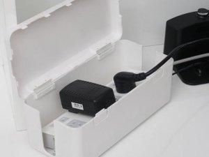 Stekkerdoos cover - Compacte stekkerdoos beschermer - Kabelmanagement - Kabelbox - Kinder beveiliging - Opbergbox Stekkerdoos - Extra veiligheid voor Kinderen/Huisdieren
