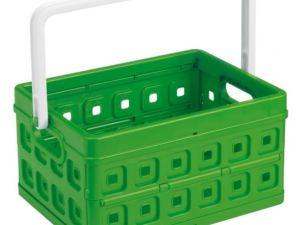 Sunware Square Vouwkrat 24Ltr groen/wit