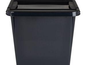 Opbergbox recycle - Zwart - 53L
