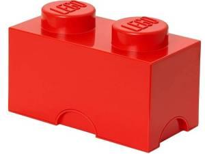 Lego Brick 2 Opbergbox - Rood