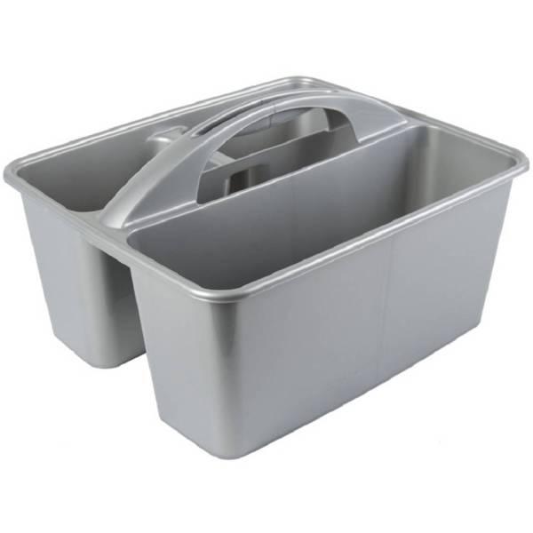 Grijze Opbergbox/opbergdoos Mand Met Handvat 6 Liter Kunststof - 31 X 26