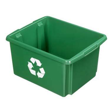 Nesta eco opbergbox 32 liter - groen - 24x36x45